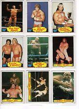 1985 Titan Sports WWF Wrestling Cards Set of 14 Cards