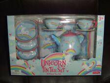 Unicorn Tin Tea Set Whimsical Preschool Pretend Dishes Kitchen Play  #Utts