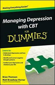 Managing Depression with CBT For Dummies, Very Good Condition Book, Broadway-Hor