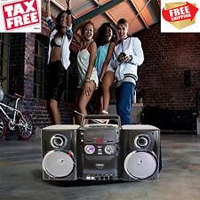 Portable CD Player AM/FM Stereo Radio Cassette Player/Recorder Detachable Speake