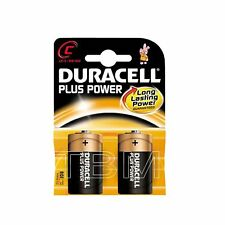 4 x C Size Duracell Plus Power (mn1400/lr14) Long Lasting Alkaline Battery