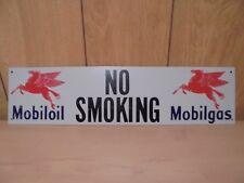 Mobil Oil / Gas Metal No Smoking Sign