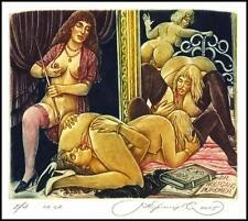 Kirnitskiy Sergey 2005 Exlibris C4 Erotic Erotik Nude Nudo Woman Sex Mirror 107