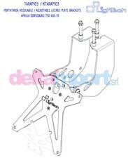 Porta Targa Lightech Regolabile TARAP103 (catadiottro) APRILIA DORSODURO (08-12)