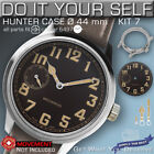 DO IT YOURSELF KIT 7: HUNTER CASE 44MM, DIAL, HANDS, for MOVEMENT ETA 6497-1