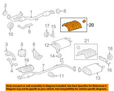 TOYOTA OEM Exhaust-Rear Insulator 5832706060