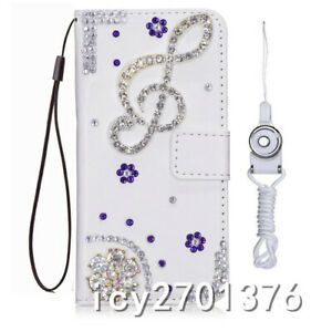 for Samsung Galaxy S9 S20/S21+/Ultra/Note 10 20 Ultra Bling leather Wallet Cover