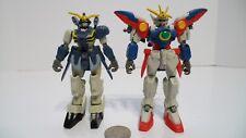 Gundam Wing Deluxe Mobile Suit  Zero & V2 Deathscythe Hell Figure Lot Bandai !!!