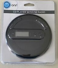 ONN Personal Portable CD Player with FM Radio - plays CD, CDRW, CD-MP3 FREE SHIP