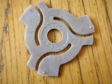 1 X LIGHT BROWN MOTTLED EFFECT 45 RPM RECORD ADAPTER / CENTRE / SPIDER