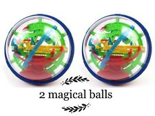 TWO pics 100 Barriers 3D Labyrinth Magic Intellect Ball Balance Maze puzzle toy