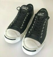Converse Jack Purcell Black Leather Sneakers - Unisex sz 9.5US 43EU