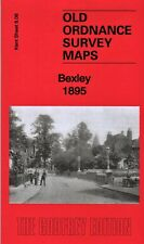 OLD ORDNANCE SURVEY MAP BEXLEY BRIDGEN HURST VALE MASCAL 1895