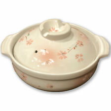 Japanese Premium Ceramic Sukiyaki / Hot Pot for 1-2 People - Cherry Blossom