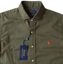 Men's POLO RALPH LAUREN Olive Green Soft Cotton Shirt 2XLT 2XT 2LT TALL NWT NEW