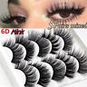 5 Pairs 100% Real 3D Mink Makeup Cross False Eyelashes Eye Lashes Handmade Sets