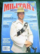 MILITARY MODELLING MAGAZINE NOV 1992 GURKHA RIFLES LUFTWAFFE FLAK ROBERT BRUCE