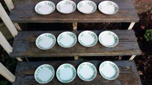 """12 Virginia Regal China w/ White Flowers & Green Leaves 7 5/8"""" Coupe Soup Bowl"""