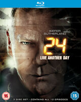 24: Live Another Day DVD (2014) Kiefer Sutherland cert 15 3 discs ***NEW***