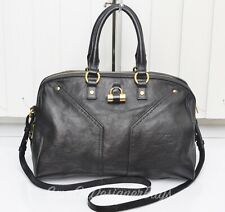 Yves Saint Laurent YSL Muse Black 2Way Bowler Boston Bag GentlyUsed Authentic