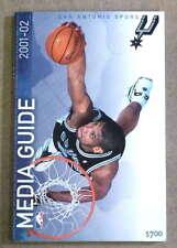 SAN ANTONIO SPURS NBA BASKETBALL MEDIA GUIDE - 2001 2002 - NEAR MINT
