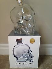 CRYSTAL HEAD VODKA SKULL BOTTLE WITH TOP And Box - 1.75L EMPTY