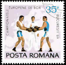 Scott # 2099 - 1969 - ' Boxers, Referee & Map of Europe '