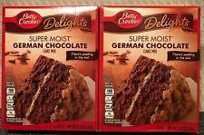 BETTY CROCKER SUPER MOIST GERMAN CHOCOLATE Cake Mix  Lot of 2