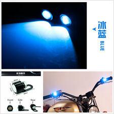 2X Ice blue LED Spotlight Motorcycle Headlight Daytime Running Light Driving