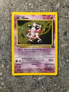 Pokemon TCG Cards ITALIAN Mr. Mime 6/64 Jungle Holo Rare Cosmos LP-MP