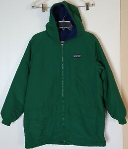 Lands End Kids/Youth Large Green Squall Fleece Lined Hooded Jacket Zippered