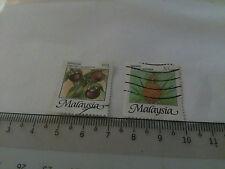 2 Malaysia Stamp Malaysian Fruits Arts
