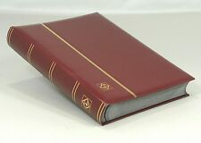 Lighthouse Leatherette Stockbook (64 Black Pgs) Burgundy- LSP4/32 -Free Shipping