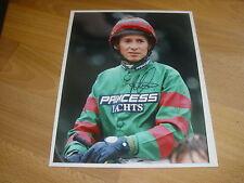 Richard Quinn horse racing jockey 3/9/97 plat signé main original press photo
