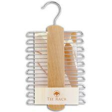 20 crochet porte cravate en Beechwood, cadeau idéal, neuf avec étiquette