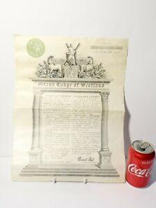 1903 Dramatic Lodge No. 571 Masonic Certificate Robert Jamieson Vellum  #MC