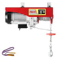 Electric Hoist Electric Winch 800kg with 15m Wire Rope and Remote Control