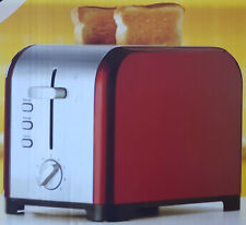 RED GLOSS 2 SLICE TOASTER CRUMB TRAY DEFROST, REHEAT & CANCEL BUTTONS D68