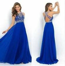 UK Womens Sleeveless Party Maxi Long Dress Ladies Formal Evening Prom Ball Gown