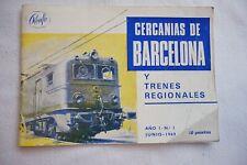 1969 Barcelona Spanish Spain Train Railway Timetable Horario Guia