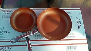 "Copper Chef Non-Stick Frying Pan, 10"" & 8"""