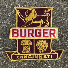 VTG 50s 60s Large Burger Beer Cincinnati Jacket Shirt Patch Advertising Reds