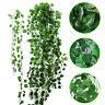 12x guirlande de lierre artificielle vigne faux plantes extérieure feuilles vert