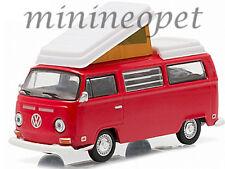 GREENLIGHT 29835 HOBBY EXCLUSIVE 1968 VOLKSWAGEN TYPE 2 T2B CAMPER VAN 1/64 RED