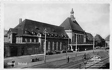 Görlitz Bahnhof Autos Original Fotokarte 1940