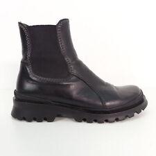 HUGO BOSS Chelsea Boots Stiefel Echt Leder Schwarz Gr. EU 37 Damen Schuhe Shoes