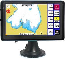 "NAVIGATORE GPS CARTOGRAFICO NAUTICO Blue 7,0"" laghi Garda, Como, Maggiore, etc."