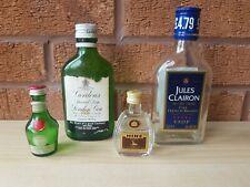 4 Vintage miniature bottle Hine,Dom Benedictine,Gordons gin,Jules Clairon brandy
