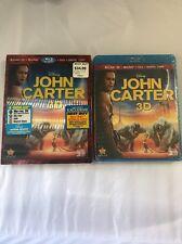 John Carter (Blu-ray/DVD, 2012, 4-Disc Set, Includes Digital Copy 3D/2D) sealed