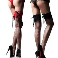 Women Sexy Lace Fishnet Mesh Thigh High Stockings Tights Long Socks Hosiery Gift